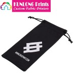 Drawstrings Microfiber Eyeglasses Pouch with Imprinted Logo (KLPMEP-001B)