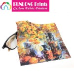 Promotional Microfiber Heat Transfer Printing Lens Cleaning Cloth (KLPMC-004)