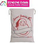 Customized Xmas Drawstring Gift Bags (KLSXCDB-011)