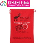 Red Cinch Up Christmas Gift Bag (KLSXCDB-013)