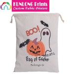 Halloween Pumpkin Drawstring Treat Bags (KLWDP-006)