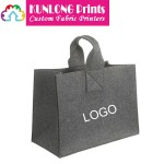 Promotional Dark Gray Felt Tote Bag with Imprinted Logo (KLFB-002)