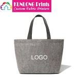Personalized Felt Tote Bag with Custom Logo (KLFB-003)
